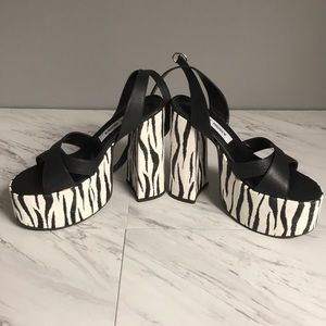 Steve Madden Zebra Print Platform Heels